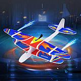 Самолет Планер с мотором и зарядкой USB 36778, пенопластовый самолет с мотором, метательный планер, фото 9