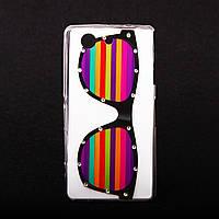 Чехол Силиконовый со стразами Glasses для Sony D5803 Z3 Compact