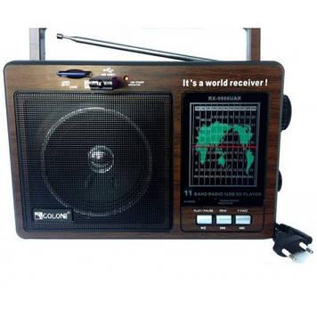 Акумуляторний радіоприймач Golon RX-9966 UAR USB MP3 Чорний