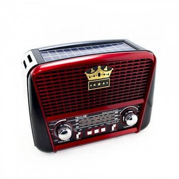Радіоприймач GOLON-RX 455 SOLAR USB+SD Червоний