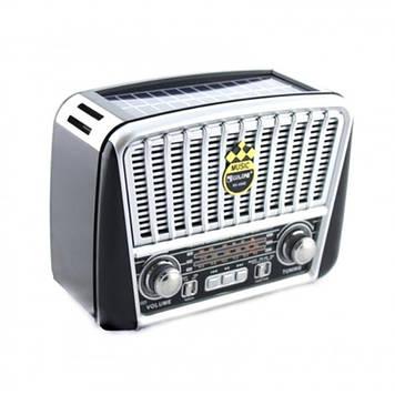 Радіоприймач GOLON-RX 455 SOLAR USB+SD Сірий