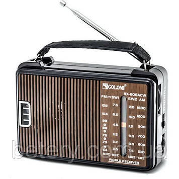 Радіоприймач GOLON RX-608 Коричневий
