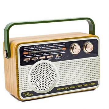 Радіоприймач з блютузом Kemai MD-506 BT Коричневий