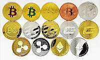 Монета сувенирные Bitcоin биткоин monero лайткоин эфир, фото 1