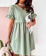 Жіноче плаття стильне«Кулір»,легке , вільне , стильне(42-46), фото 1