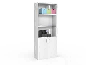 Стеллаж серии Стандарт для офиса в белом цвете
