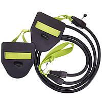 Гребной тренажер с лопатками MadWave DRY TRAINING M077103300W сопротивление 3,6-10,8кг черный-зеленый