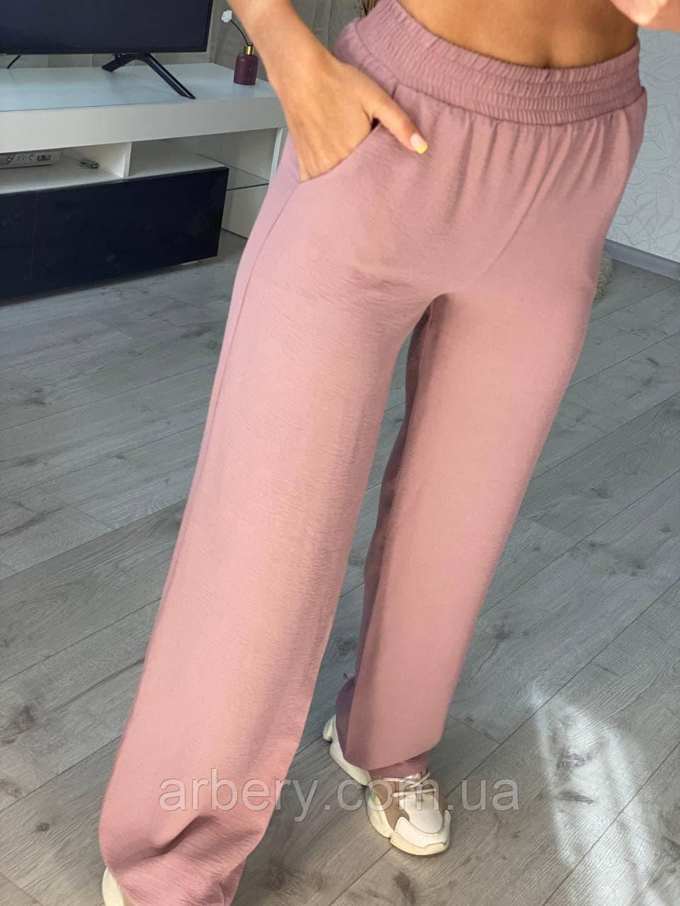 Женские летние брюки снизу расклешенные