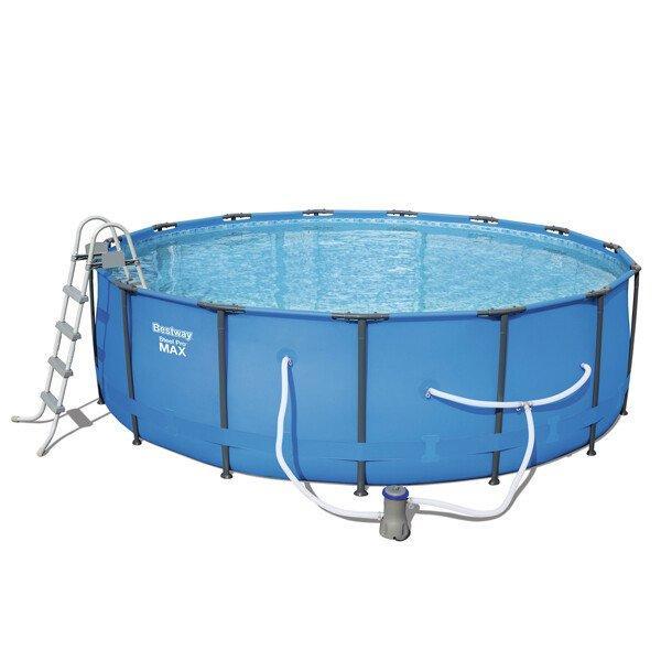 Каркасный бассейн Bestway 56488 (457х107) с картриджным фильтром, Круглая, 457х107