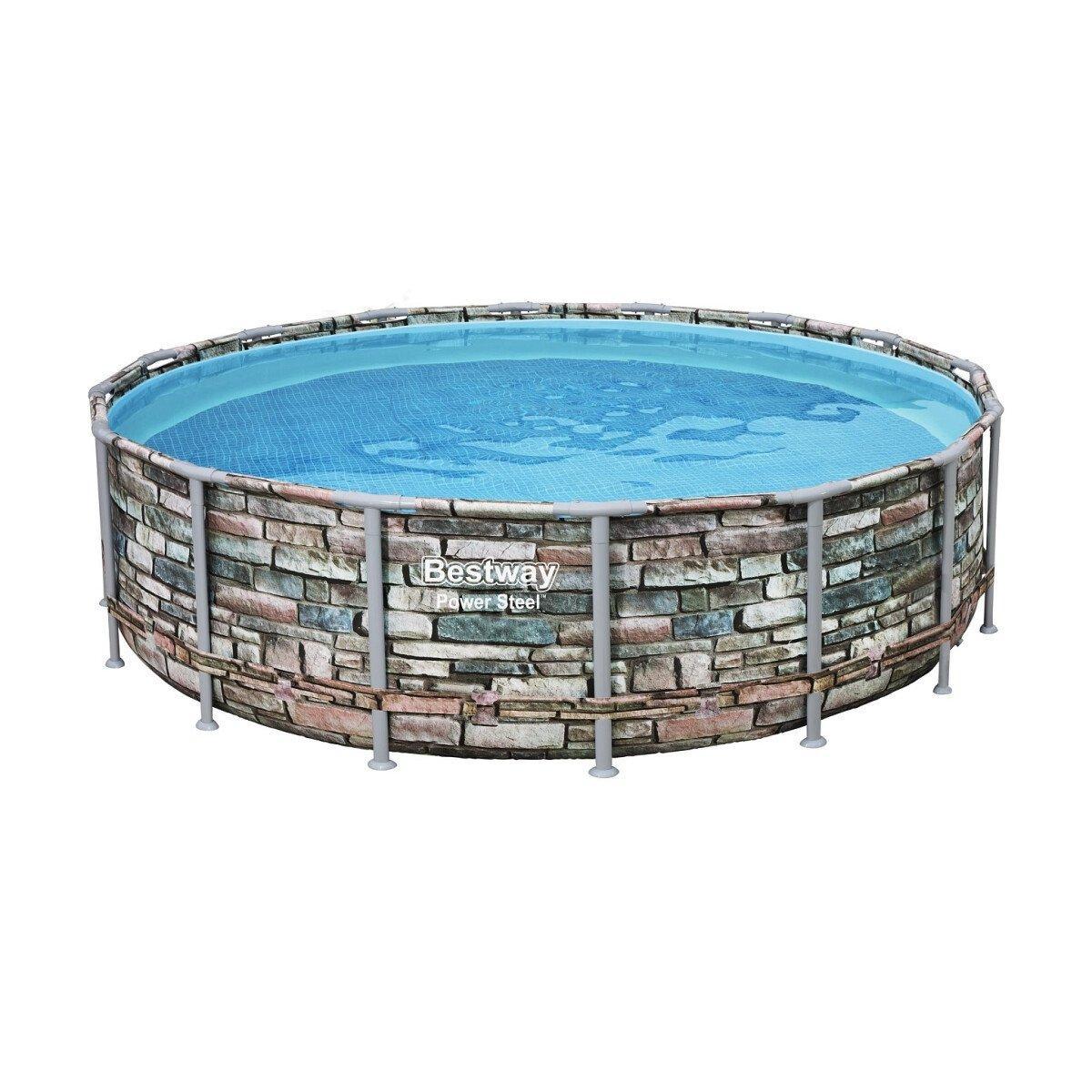 Каркасный бассейн Bestway Loft 56886 (549х132) с картриджным фильтром, Круглая, 549х132