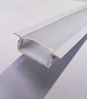 Лед профиль ЛПВ7 Белый с Рассеивателем Поликарбонат, фото 1