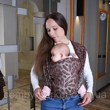 Слинг-шарф шоколадный Feathers Малышастик