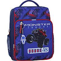 Рюкзак шкільний для хлопчика молодших класів 8 л. Stars шкільний рюкзак з ортопедичною спинкою,принт машина, фото 1
