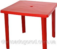 Стол садовый пластиковый квадратный (без стульев)