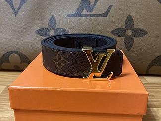 Ремень кожаный Louis Vuitton/женский кожаный ремень луи витон/ремни кожаные (люкс копия)