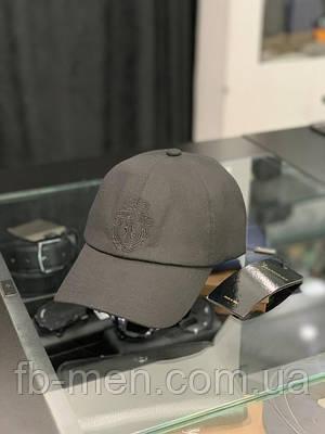 Мужская кепка Billionaire черная   Классическая черная брендовая кепка Биллионер мужская