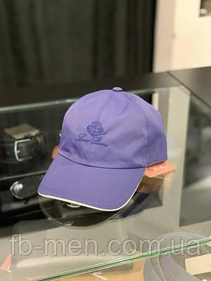 Мужская брендовая кепка Loro Piana синяя   Классическая мужская кепка Лоро Пиана синяя