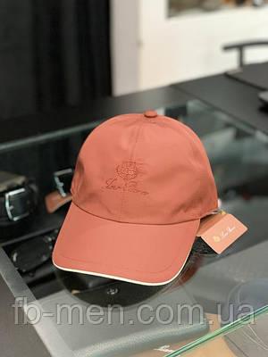 Кепка мужская Loro Piana терракотовая | Брендовая кепка Лоро Пиана | Мужская классическая кепка Loro Piana