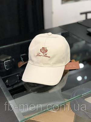 Мужская кепка Loro Piana белая | Брендовая мужская кепка Лоро Пиана | Мужская классическая кепка Loro Piana