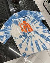 Мужская футболка голубого цвета с разводами, фото 3