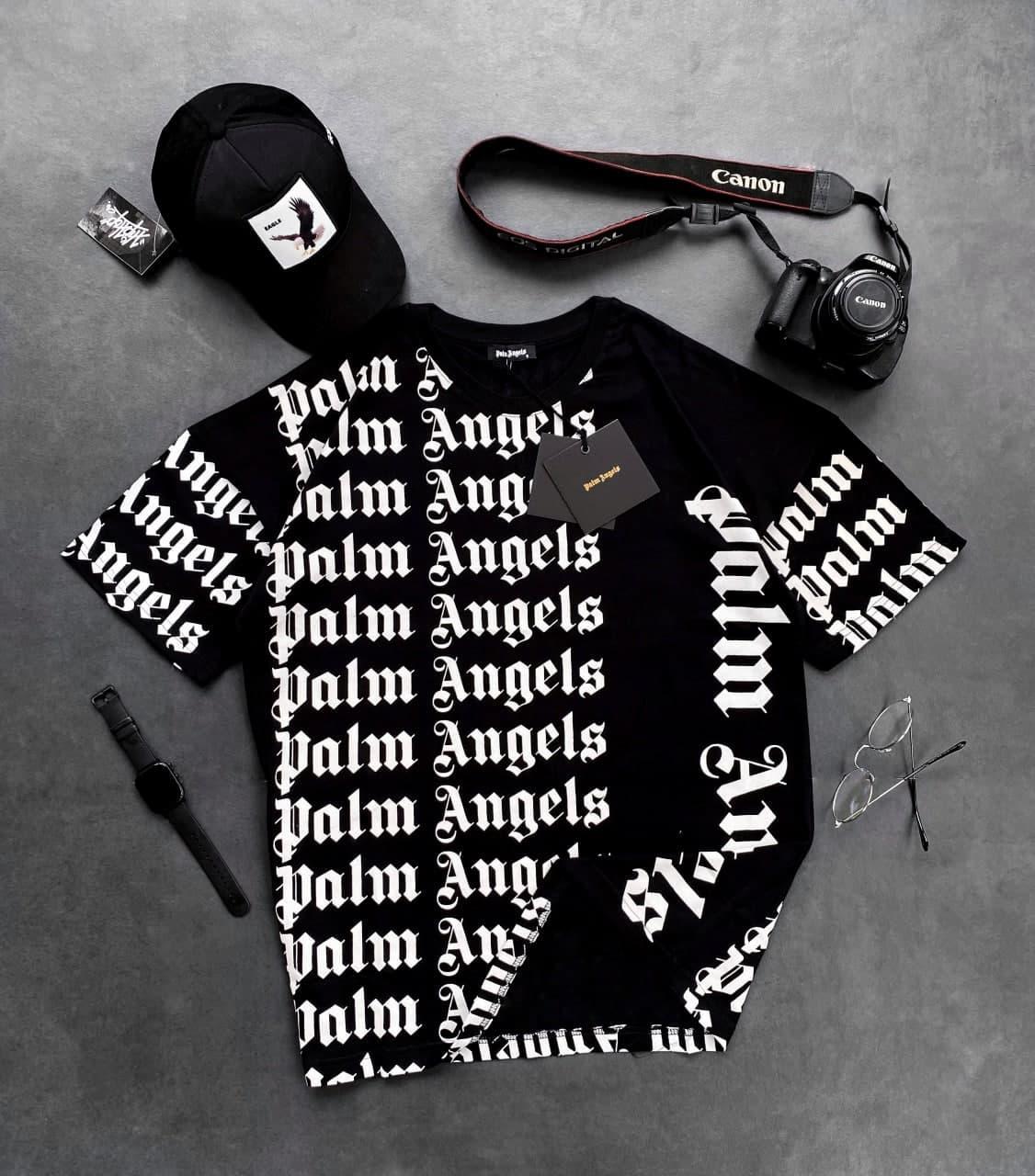 Мужская футболка Палм Анжелс черного цвета