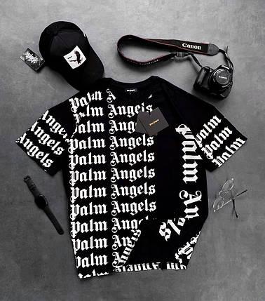 Мужская футболка Палм Анжелс черного цвета, фото 2
