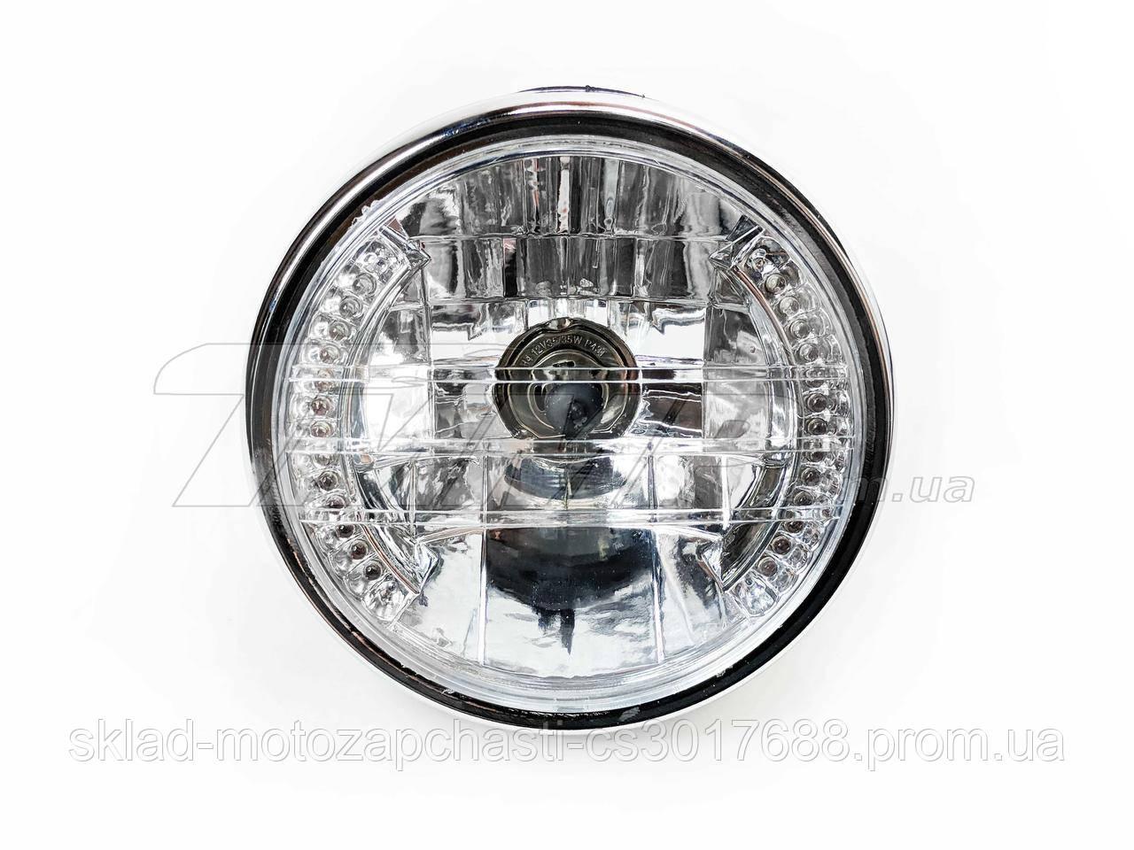 Фара кругла Дельта Альфа з LED підсвічуванням