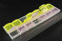 Органайзер пластиковый, контейнер, тара , для бисера, творчества,рукоделия,  белый,  14 отделений