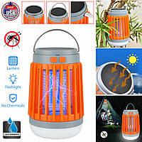 Фонарь для кемпинга и дома 3в1 Водонепроницаемый+Защита от комаров Flashlight Camping Lamp Оранжевый