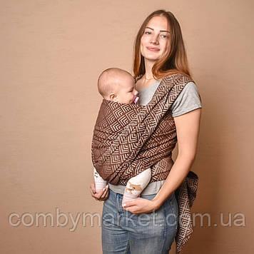 Слинг-шарф шоколадный Geometry Малышастик