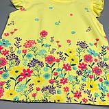Комплект футболка, шорты для девочки Жёлтый Турция 74 (р), фото 3