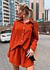 """Жіночий легкий прогулянковий костюм шорти і сорочка """"Demarco""""В І, фото 3"""