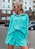 """Жіночий легкий прогулянковий костюм шорти і сорочка """"Demarco""""В І, фото 4"""