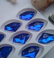 Стрази пришивні Топірець 16х27 мм Sapphire, скло