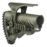 Приклад FAB Defense GLR-16 CP с регулируемой щекой для AR15/M16. Цвет - оливковый