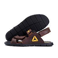 Чоловічі шкіряні сандалі Reebok NS brown (репліка)