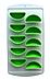 Силіконова форма для льоду Douba Часточки апельсина 10 клітинок/ Силіконова форма для льоду, фото 2