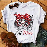 Женские футболки - FD-5436-мас - Классная модная молодежная хлопковая футболка