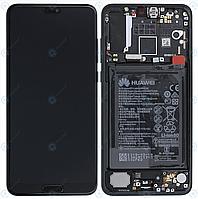 Дисплей для Huawei P20 Pro (CLT-L29, CLT-L09) модуль з рамкою, АКБ, датчиками, сервісний оригінал (02351WTU)