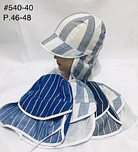 Летняя панамка для мальчика полоска р. 46-48