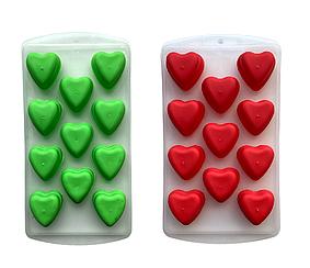 Силиконовая форма для льда Douba  Сердце 11 ячеек / Силіконова форма для льду