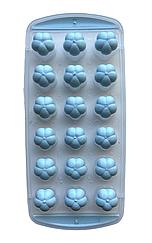 Форма для льда Douba прямоугольная с силиконовым дном в виде цветка на 18 разделов