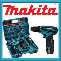 Makita DF330DWE Шуруповерт (12V 2A/h Li-Ion) Аккумуляторный Шуруповерт Макита с набором инструмента