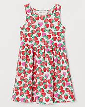 Платье, сарафан Клубника H&M на девочку 4-6 лет