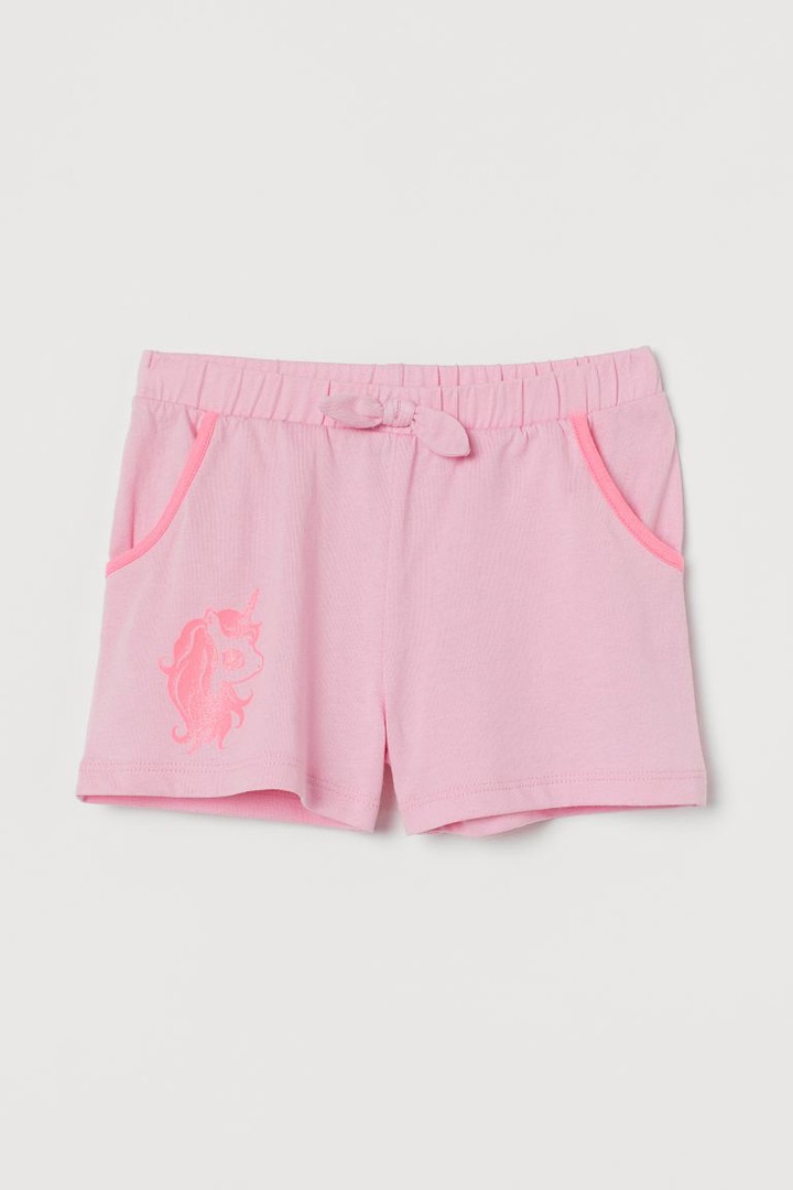 Симпатичні світло-рожеві шортики з єдинорогом НМ для дівчинки