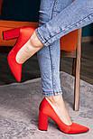 Туфли женские Fashion Kaaisa 2619 36 размер 23,5 см Красный, фото 3