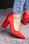 Туфли женские Fashion Kaaisa 2619 36 размер 23,5 см Красный, фото 4