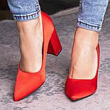 Туфли женские Fashion Kaaisa 2619 36 размер 23,5 см Красный, фото 5