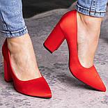 Туфли женские Fashion Kaaisa 2619 36 размер 23,5 см Красный, фото 6