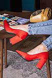 Туфли женские Fashion Kaaisa 2619 36 размер 23,5 см Красный, фото 7